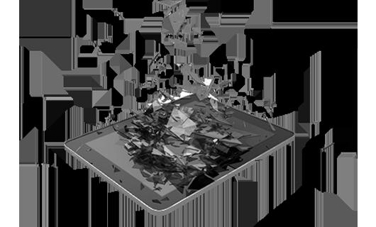Разбитый экран планшета   remontikgsm.by